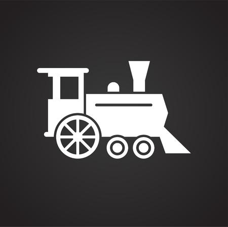 Eisenbahnbezogenes Symbol im Hintergrund für Grafik- und Webdesign. Einfaches Vektorzeichen. Internet-Konzeptsymbol für Website-Button oder mobile App