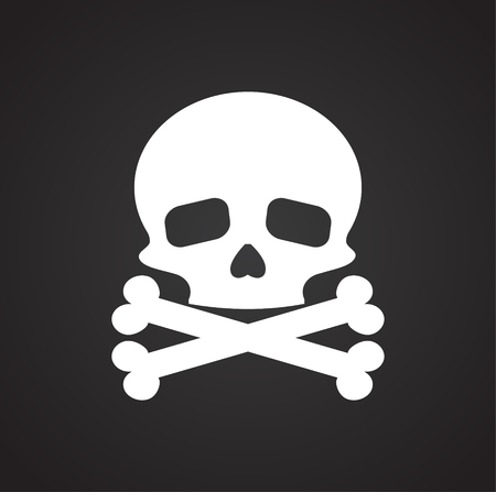 Skull icon on background for graphic and web design. Simple vector sign. Internet concept symbol for website button or mobile app.