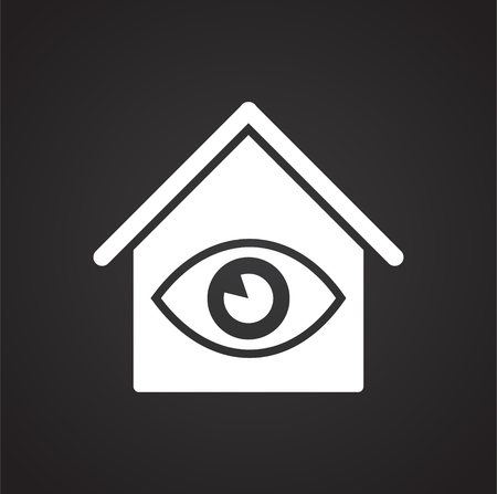 Smart home related icon on background for graphic and web design. Simple vector sign. Internet concept symbol for website button or mobile app.