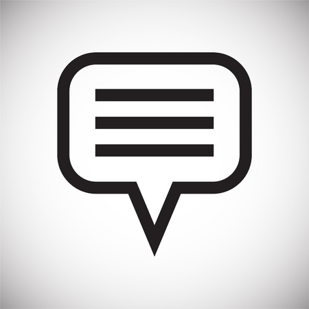 Text bubble icon on background for graphic and web design. Simple vector sign. Internet concept symbol for website button or mobile app. 일러스트
