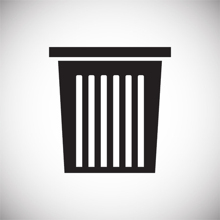 Trash bin icon on background for graphic and web design. Simple vector sign. Internet concept symbol for website button or mobile app. Ilustracja