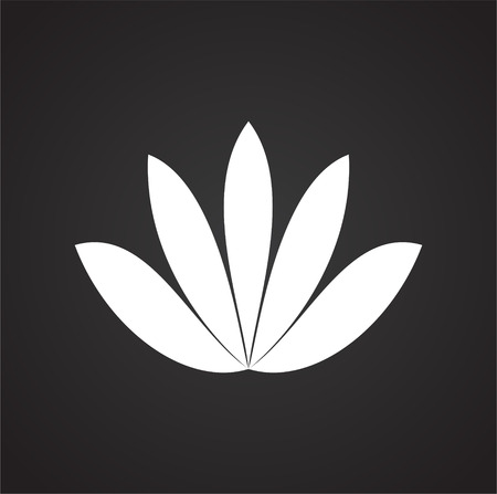 Lotos flower icon on background for graphic and web design. Simple vector sign. Internet concept symbol for website button or mobile app. Çizim