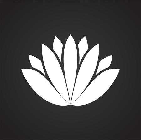 Lotos flower icon on background for graphic and web design. Simple vector sign. Internet concept symbol for website button or mobile app. Illustration
