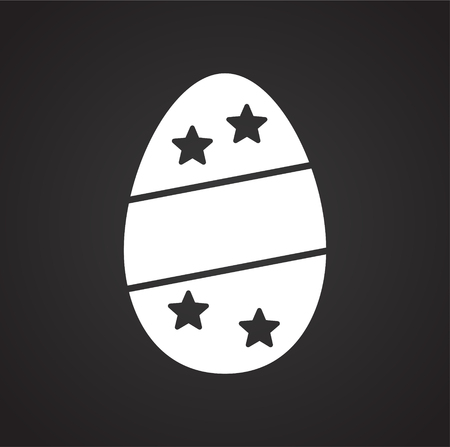 Easter egg icon on background for graphic and web design. Simple vector sign. Internet concept symbol for website button or mobile app.