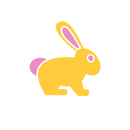 Easter bunny icon on background for graphic and web design. Simple vector sign. Internet concept symbol for website button or mobile app.