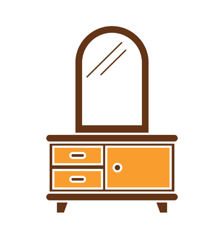 Furniture icon on background for graphic and web design. Simple vector sign. Internet concept symbol for website button or mobile app. Illustration