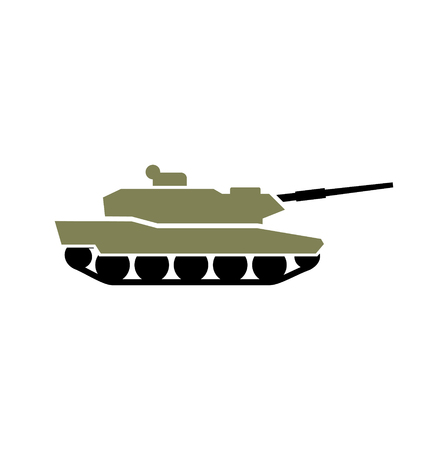 Military vehicle icon on background for graphic and web design. Simple vector sign. Internet concept symbol for website button or mobile app.