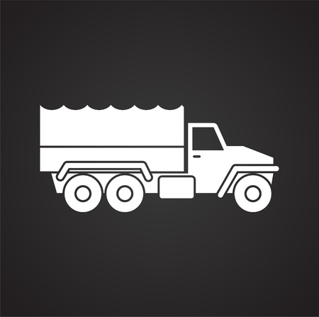 Military vehicle icon set on background for graphic and web design. Simple vector sign. Internet concept symbol for website button or mobile app