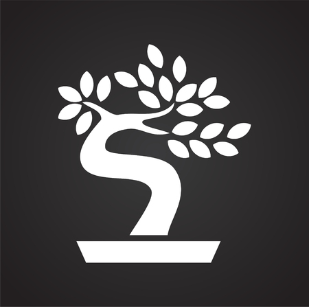 Bonsai icon on background for graphic and web design. Simple vector sign. Internet concept symbol for website button or mobile app.