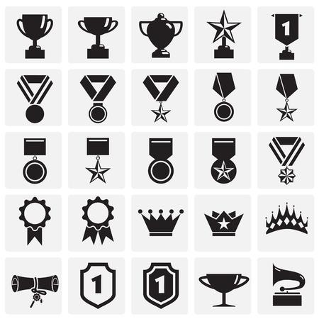 Auszeichnungssymbole auf quadratischem Hintergrund für Grafik- und Webdesign. Einfaches Vektorzeichen. Internet-Konzeptsymbol für Website-Button oder mobile App. Vektorgrafik