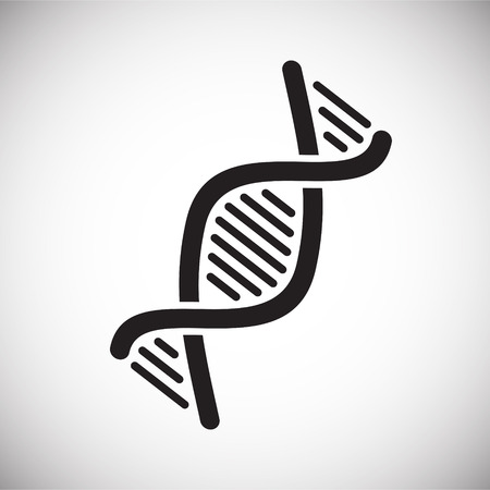 DNA icon on background for graphic and web design. Simple vector sign. Internet concept symbol for website button or mobile app Vektorové ilustrace
