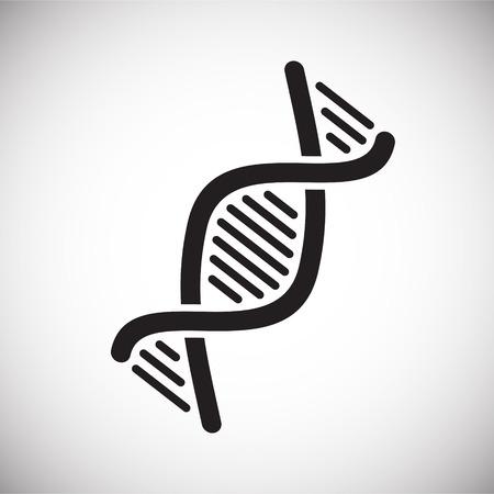 Icône d'ADN sur fond pour la conception graphique et web. Signe de vecteur simple. Symbole de concept Internet pour le bouton de site Web ou l'application mobile Vecteurs