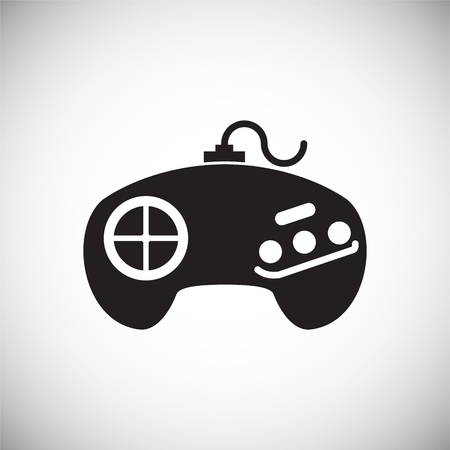 Gaming icon on background for graphic and web design. Simple vector sign. Internet concept symbol for website button or mobile app.