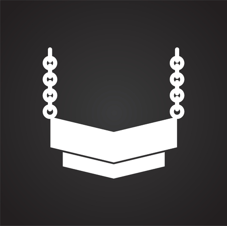 Jewelry icon on background for graphic and web design. Simple vector sign. Internet concept symbol for website button or mobile app. 免版税图像 - 120469421