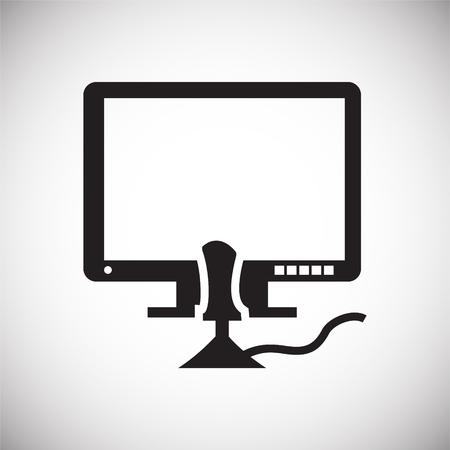 Icône de jeu sur fond pour la conception graphique et web. Signe de vecteur simple. Symbole de concept Internet pour le bouton de site Web ou l'application mobile. Vecteurs