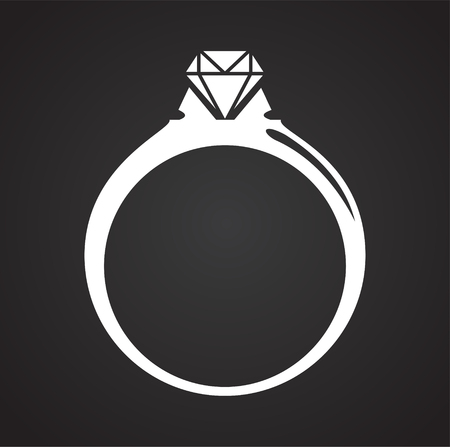 Jewelry icon on background for graphic and web design. Simple vector sign. Internet concept symbol for website button or mobile app.