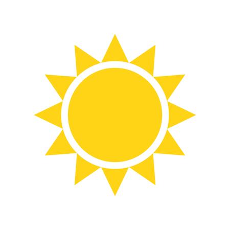 Icona del sole sullo sfondo per la progettazione grafica e web. Segno di vettore semplice. Simbolo del concetto di Internet per il pulsante del sito Web o l'app mobile. Vettoriali