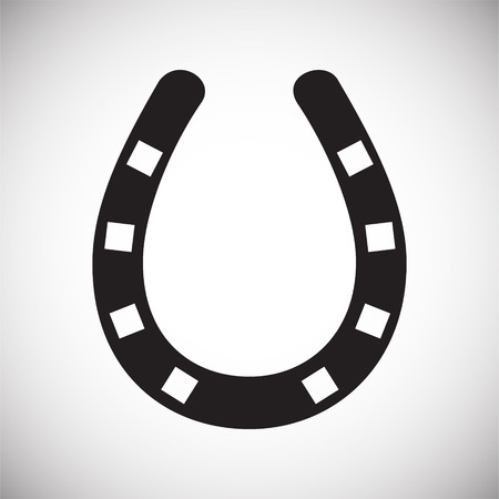 Horse shoe icon on background for graphic and web design. Simple vector sign. Internet concept symbol for website button or mobile app. Ilustrace