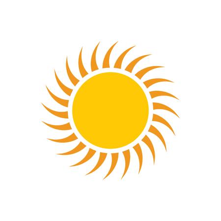 Icône de soleil sur fond pour la conception graphique et web. Signe de vecteur simple. Symbole de concept Internet pour le bouton de site Web ou l'application mobile.