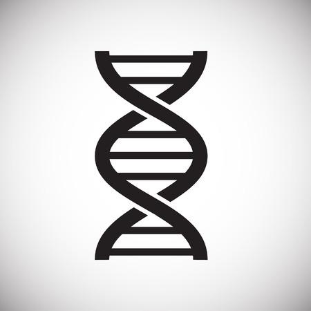 Icono de ADN en el fondo para diseño gráfico y web. Signo de vector simple. Símbolo del concepto de Internet para el botón del sitio web o la aplicación móvil Ilustración de vector