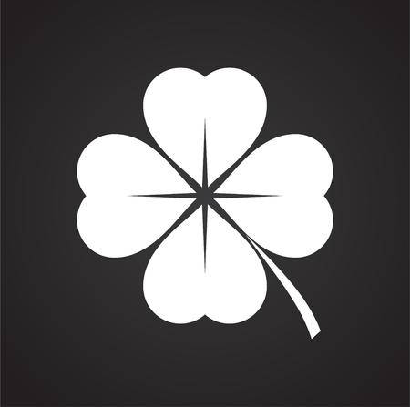 Clover icon on background for graphic and web design. Simple vector sign. Internet concept symbol for website button or mobile app.