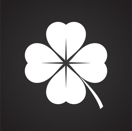 Icona del trifoglio sullo sfondo per la progettazione grafica e web. Segno di vettore semplice. Simbolo del concetto di Internet per il pulsante del sito Web o l'app mobile.