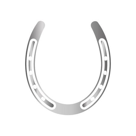 Hufeisen-Silbersymbol im Hintergrund für Grafik- und Webdesign. Einfaches Vektorzeichen. Internet-Konzeptsymbol für Website-Button oder mobile App.
