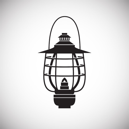 Lantern icon on background for graphic and web design. Simple vector sign. Internet concept symbol for website button or mobile app.