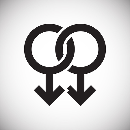 Gender icon on background for graphic and web design. Simple vector sign. Internet concept symbol for website button or mobile app.