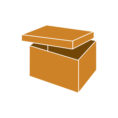 Box icon on background for graphic and web design. Simple vector sign. Internet concept symbol for website button or mobile app. Illustration