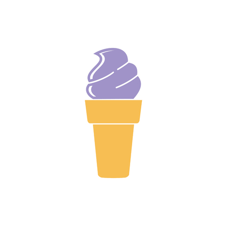 Ice cream icon on background for graphic and web design. Simple vector sign. Internet concept symbol for website button or mobile app.