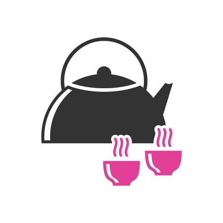 Yoga-bezogenes Symbol im Hintergrund für Grafik- und Webdesign. Einfaches Vektorzeichen. Internet-Konzeptsymbol für Website-Button oder mobile App.