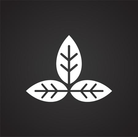 Yoga-bezogenes Symbol im Hintergrund für Grafik- und Webdesign. Einfaches Vektorzeichen. Internet-Konzeptsymbol für Website-Button oder mobile App. Vektorgrafik