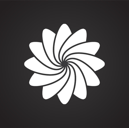 Yoga related icon on background for graphic and web design. Simple vector sign. Internet concept symbol for website button or mobile app.