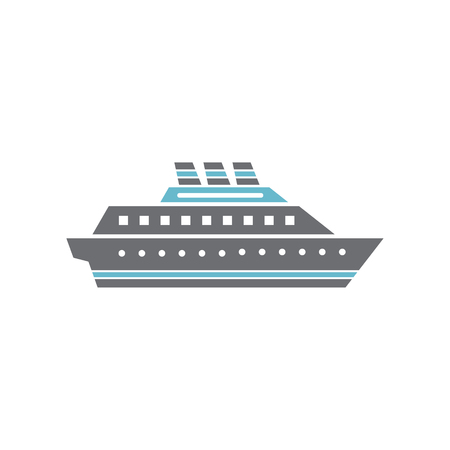 Ship icon on background for graphic and web design. Simple vector sign. Internet concept symbol for website button or mobile app