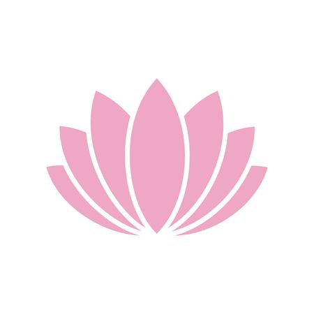 Icône de fleur de lotos sur fond pour la conception graphique et web. Signe de vecteur simple. Symbole de concept Internet pour le bouton de site Web ou l'application mobile Vecteurs