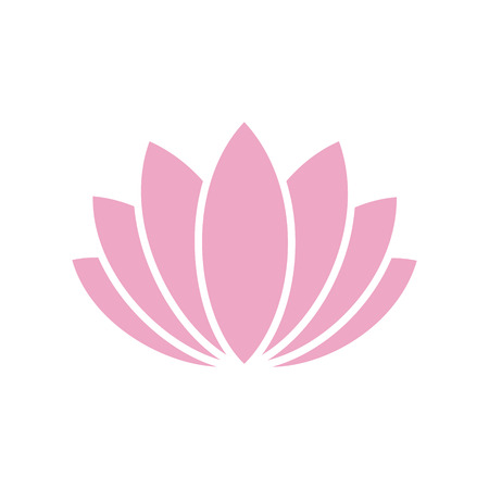 Lotos flower icon on background for graphic and web design. Simple vector sign. Internet concept symbol for website button or mobile app Vector Illustratie