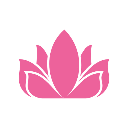 Lotos flower icon on background for graphic and web design. Simple vector sign. Internet concept symbol for website button or mobile app