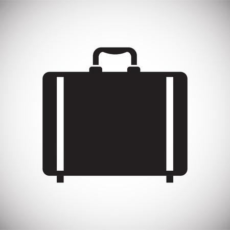Icona del caso sullo sfondo per la progettazione grafica e web. Segno di vettore semplice. Simbolo del concetto di Internet per il pulsante del sito Web o l'app mobile