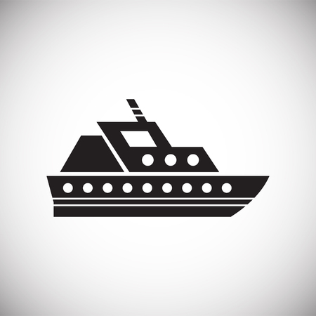 Ship icon on background for graphic and web design. Simple vector sign. Internet concept symbol for website button or mobile app Vektorgrafik