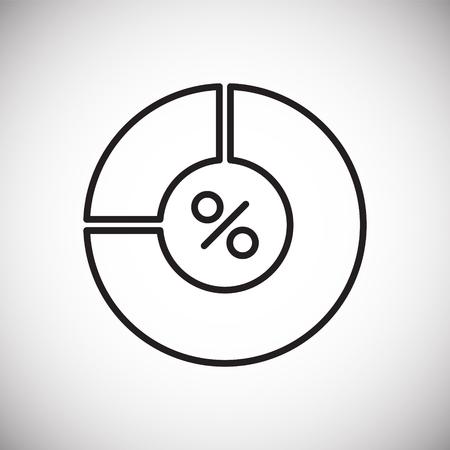 Icono de línea de gráfico en el fondo para diseño gráfico y web. Signo de vector simple. Símbolo del concepto de Internet para el botón del sitio web o la aplicación móvil Ilustración de vector