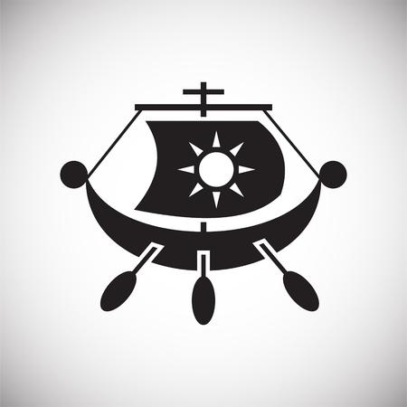 Icône de navire sur fond pour la conception graphique et web. Signe de vecteur simple. Symbole de concept Internet pour le bouton de site Web ou l'application mobile