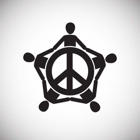Peace icon on background for graphic and web design. Simple vector sign. Internet concept symbol for website button or mobile app.