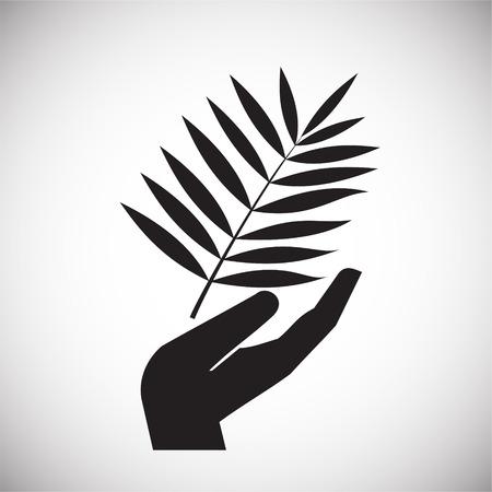 Icono de paz en el fondo para diseño gráfico y web. Signo de vector simple. Símbolo del concepto de Internet para el botón del sitio web o la aplicación móvil.