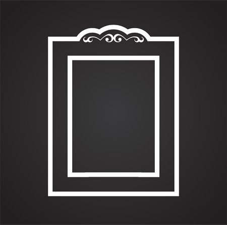 Frame icon on background for graphic and web design. Simple vector sign. Internet concept symbol for website button or mobile app.