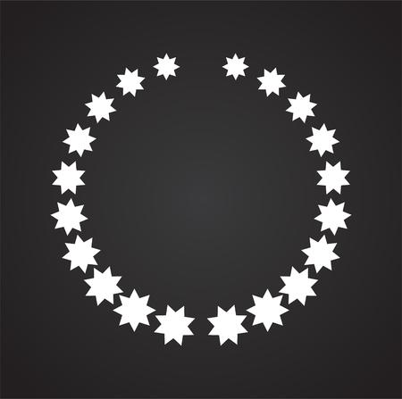 Icône de couronne sur fond pour la conception graphique et web. Signe de vecteur simple. Symbole de concept Internet pour le bouton de site Web ou l'application mobile.