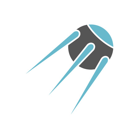 Satellite icon on background for graphic and web design. Simple vector sign. Internet concept symbol for website button or mobile app