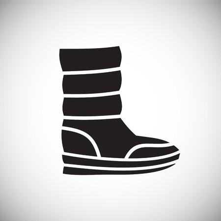 Icône de chaussure sur fond pour la conception graphique et web. Signe de vecteur simple. Symbole de concept Internet pour le bouton de site Web ou l'application mobile.