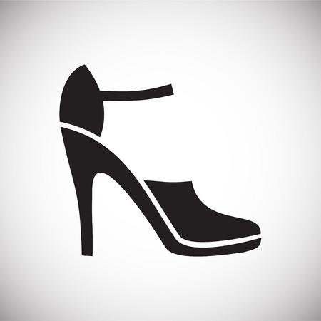 Icono de zapato en el fondo para diseño gráfico y web. Signo de vector simple. Símbolo del concepto de Internet para el botón del sitio web o la aplicación móvil. Ilustración de vector