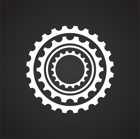 Bicycle star icon on background for graphic and web design. Simple vector sign. Internet concept symbol for website button or mobile app.